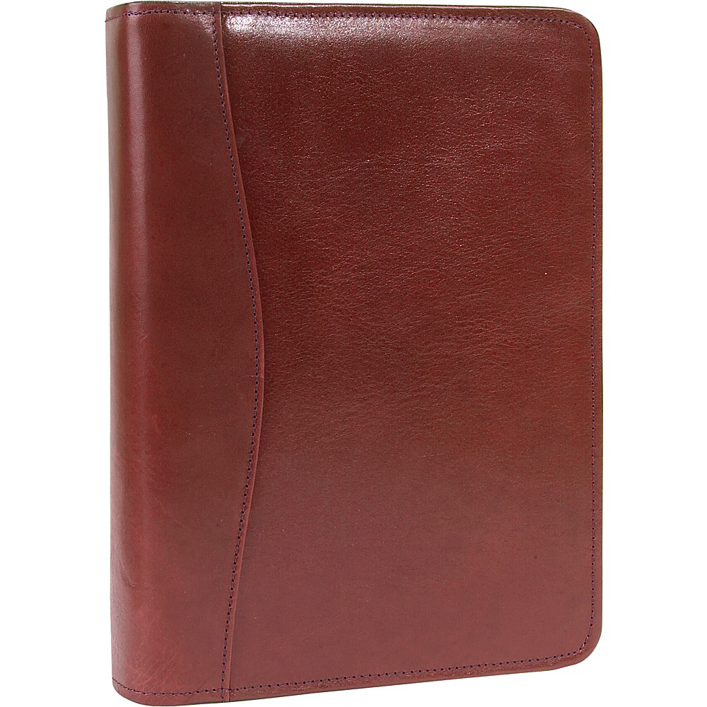 Scully Italian Leather Zip Weekly Organizer Mahogany