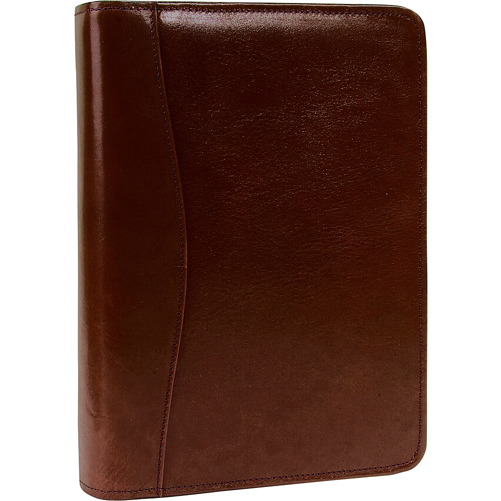 Scully Italian Leather Zip Weekly Organizer Walnut