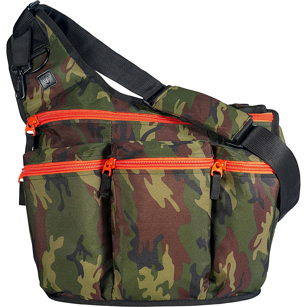 Diaper Dude Camouflage Diaper Bag with Orange Zippers - Handbags, Diaper Bags & Accessories