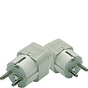Grounded Europe Adapter Plug (Shuko) - set of 2 As Shown