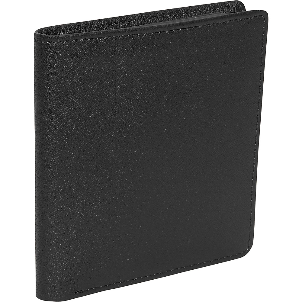 Royce Leather Mens Two Fold Wallet - Black - Work Bags & Briefcases, Men's Wallets