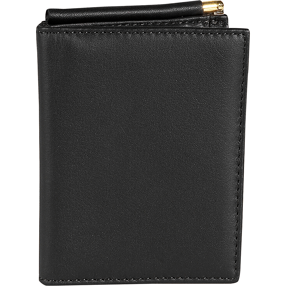 Royce Leather Mens Money Clip Wallet - Black - Work Bags & Briefcases, Men's Wallets