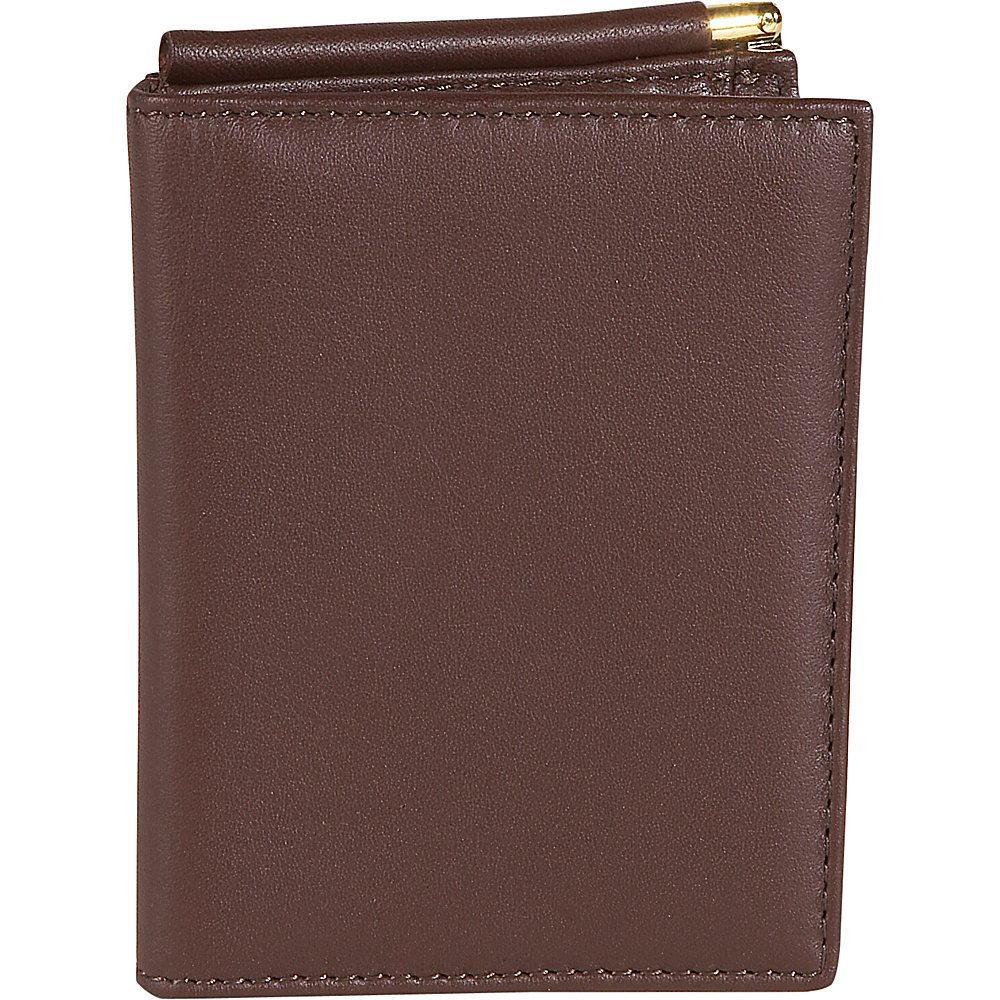 Royce Leather Men's Money Clip Wallet - Coco
