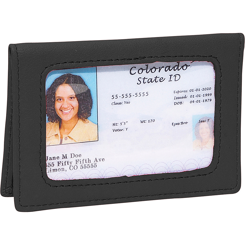 Royce Leather Tri-View Id Holder - Black - Women's SLG, Women's Wallets