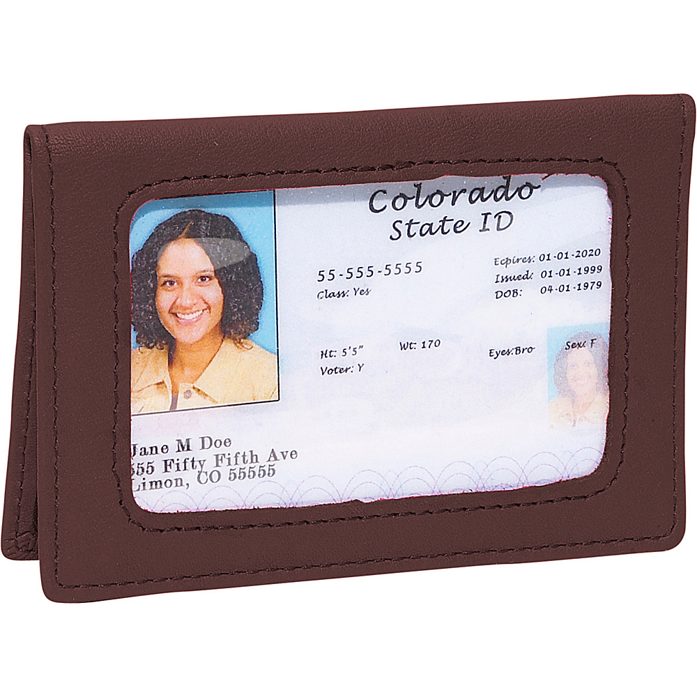 Royce Leather Tri-View Id Holder - Coco - Women's SLG, Women's Wallets