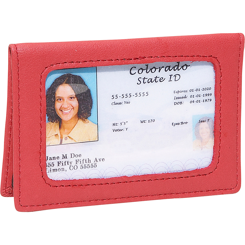 Royce Leather Tri-View Id Holder - Red - Women's SLG, Women's Wallets