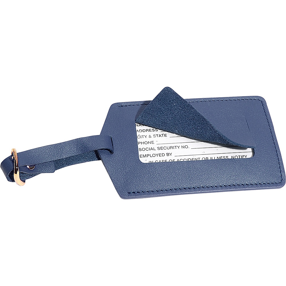 Royce Leather Luggage Tag Blue - Royce Leather Luggage Accessories - Travel Accessories, Luggage Accessories