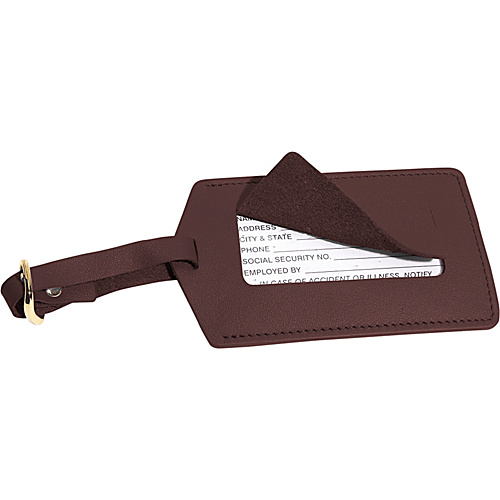 Royce Leather Luggage Tag Coco - Royce Leather Luggage Accessories