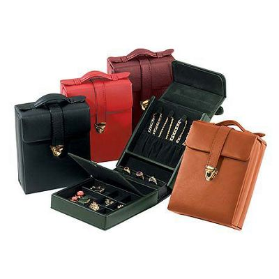 Royce Leather Royce Leather Ladies' Pocketbook Jewelry Case - Black