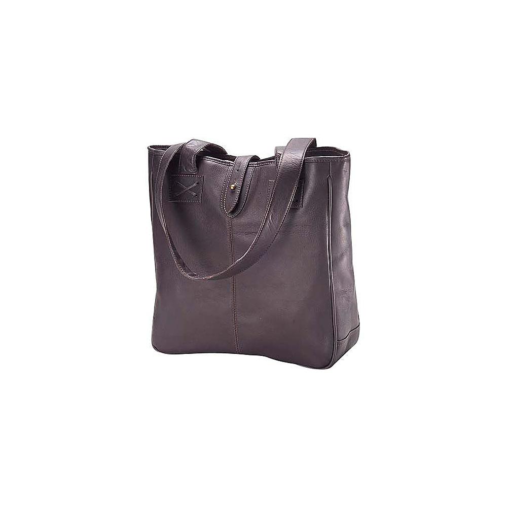 Clava Vachetta Small Shopper - Tuscan Cafe - Handbags, Leather Handbags