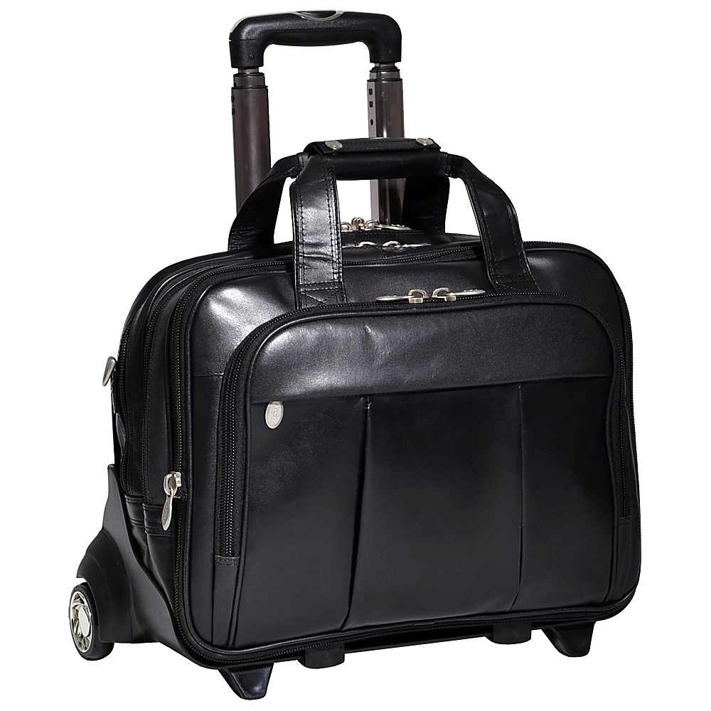 McKlein USA Damen Leather Wheeled 17 Laptop Case - Work Bags & Briefcases, Wheeled Business Cases
