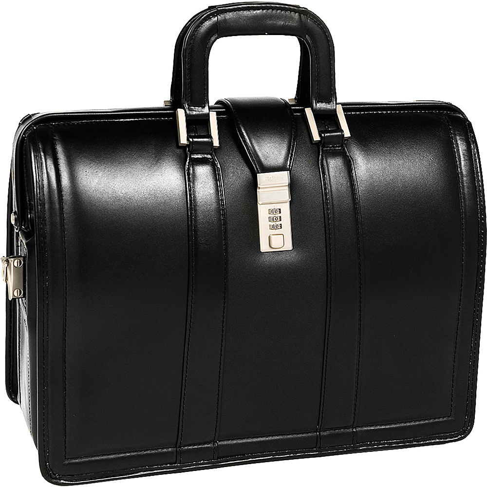 McKlein USA Morgan Leather 17 Litigator Laptop Brief - Work Bags & Briefcases, Non-Wheeled Business Cases