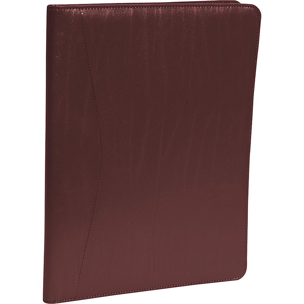Royce Leather Padfolio - Burgundy - Work Bags & Briefcases, Business Accessories