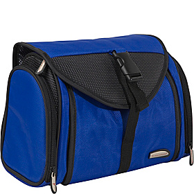 Ballistic Nylon Hanging Toiletry Kit Blue