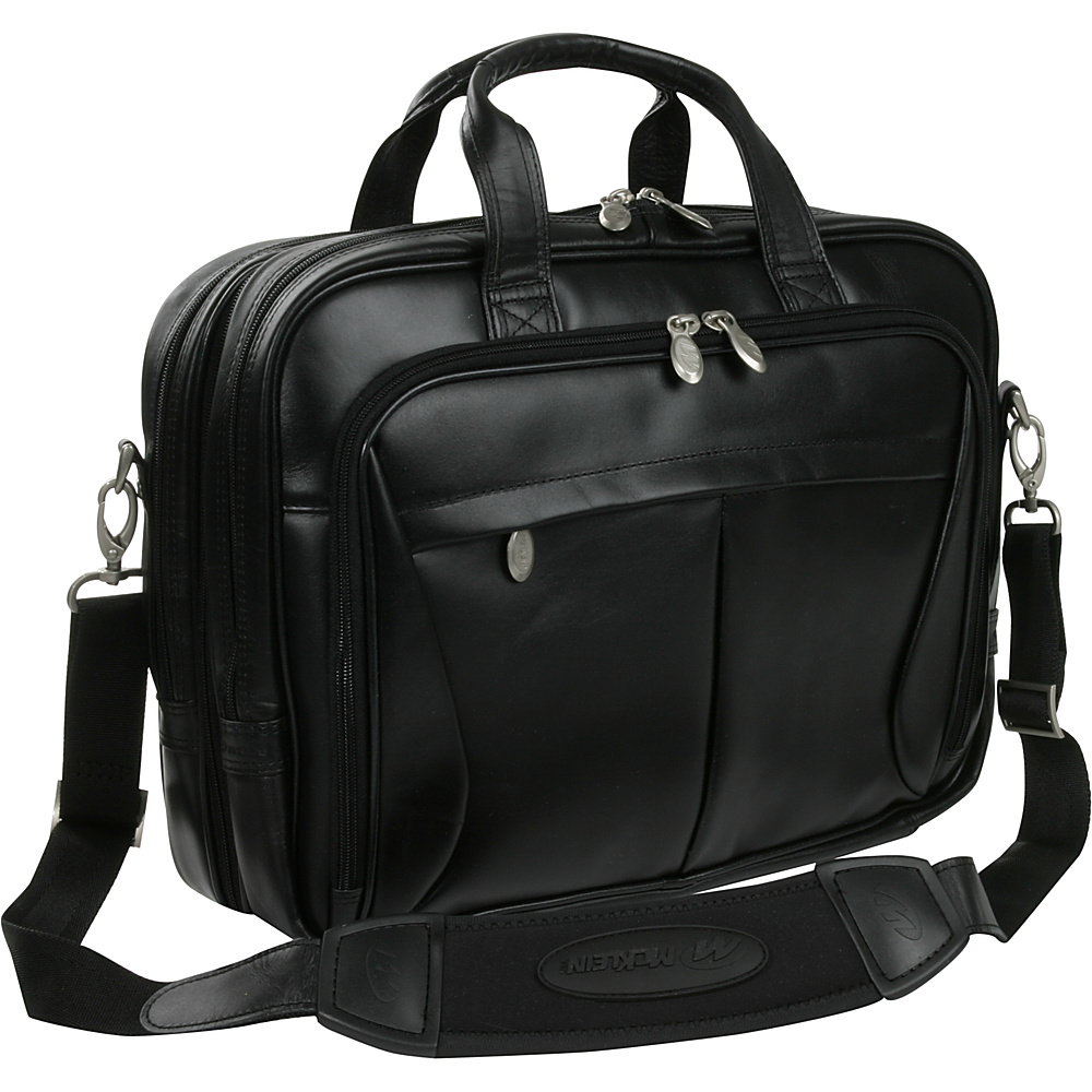 McKlein USA Pearson Leather Expandable 15.4 Laptop - Work Bags & Briefcases, Non-Wheeled Business Cases