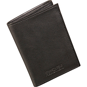 Pay It Forward - Leather Trifold Wallet In Valet Tray Black