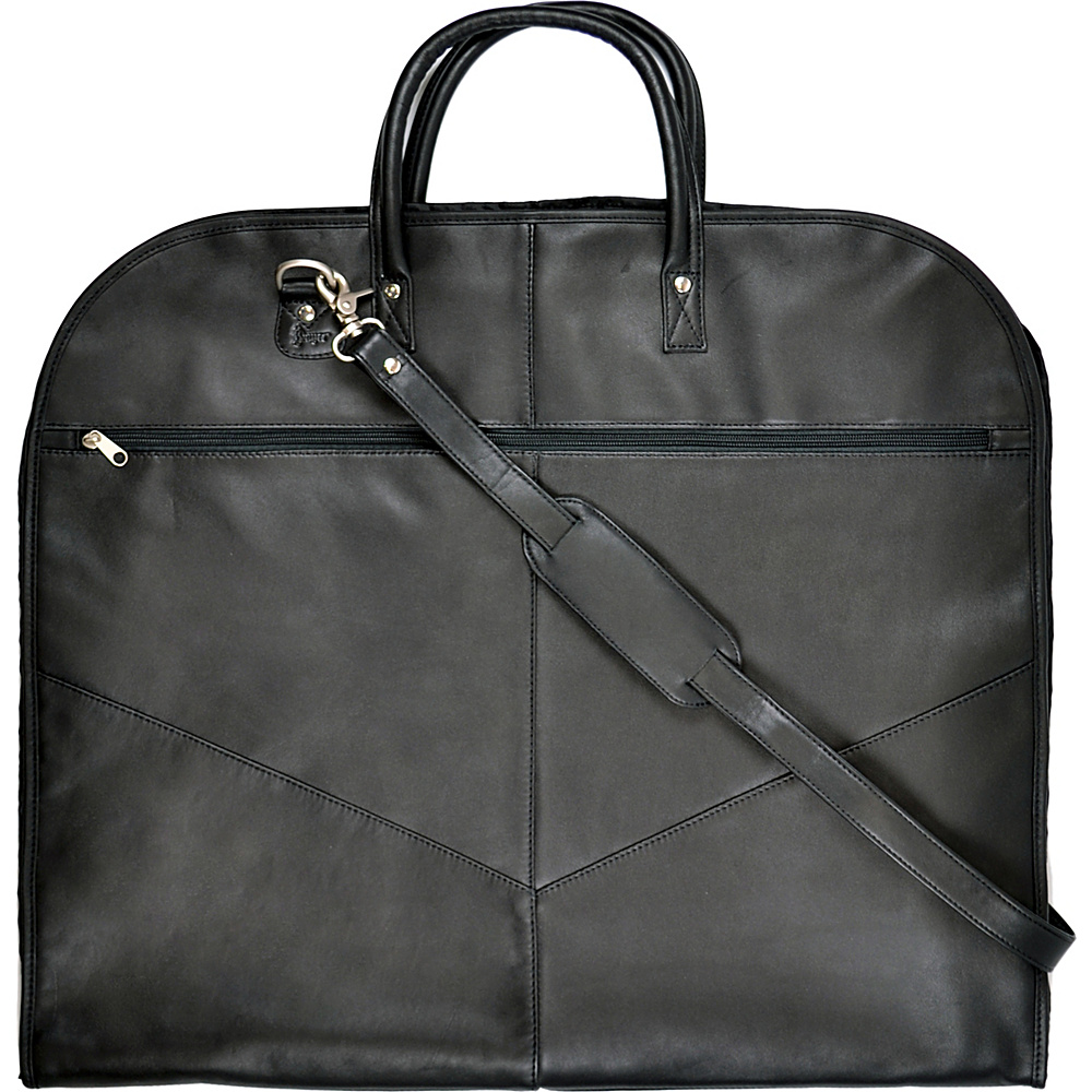Royce Leather Leather Garment Cover - Black - Luggage, Garment Bags