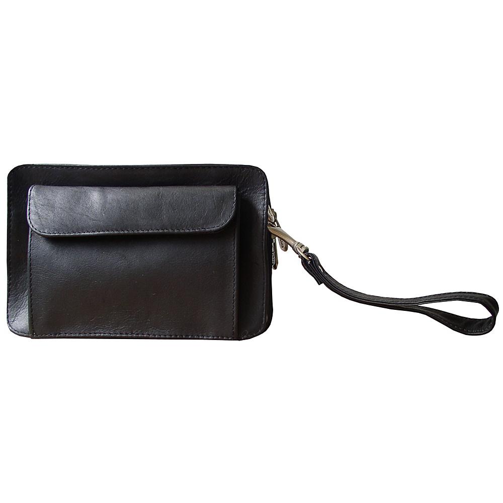 Piel Mens Organizer Bag - Black - Travel Accessories, Travel Wallets