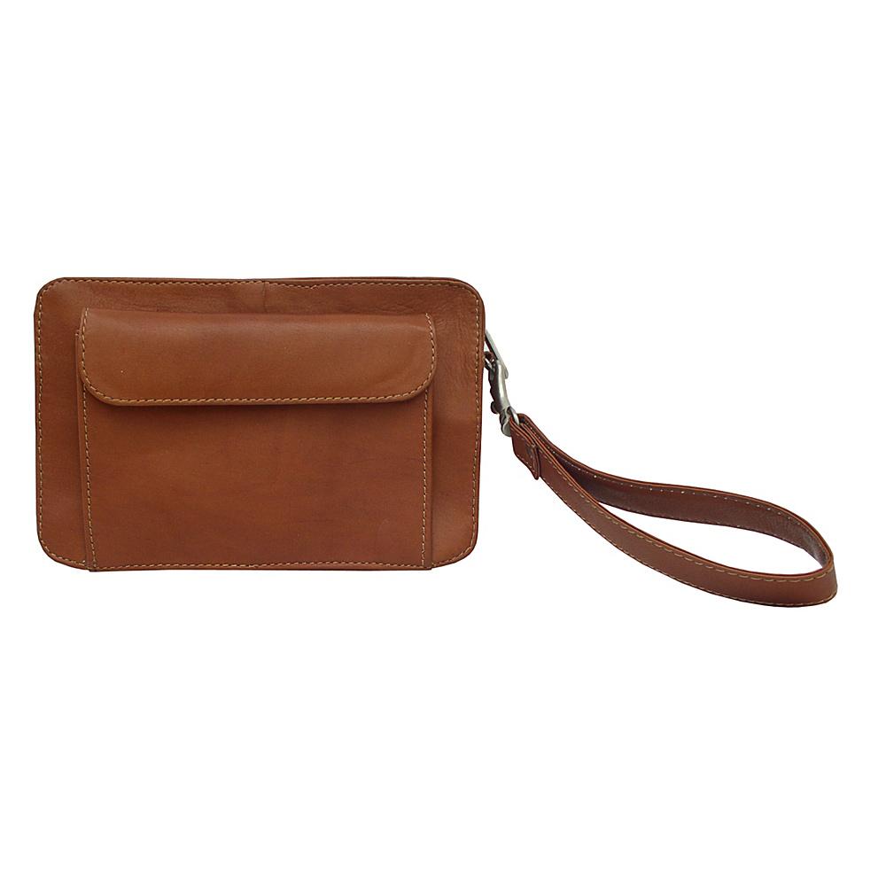 Piel Mens Organizer Bag - Saddle - Travel Accessories, Travel Wallets