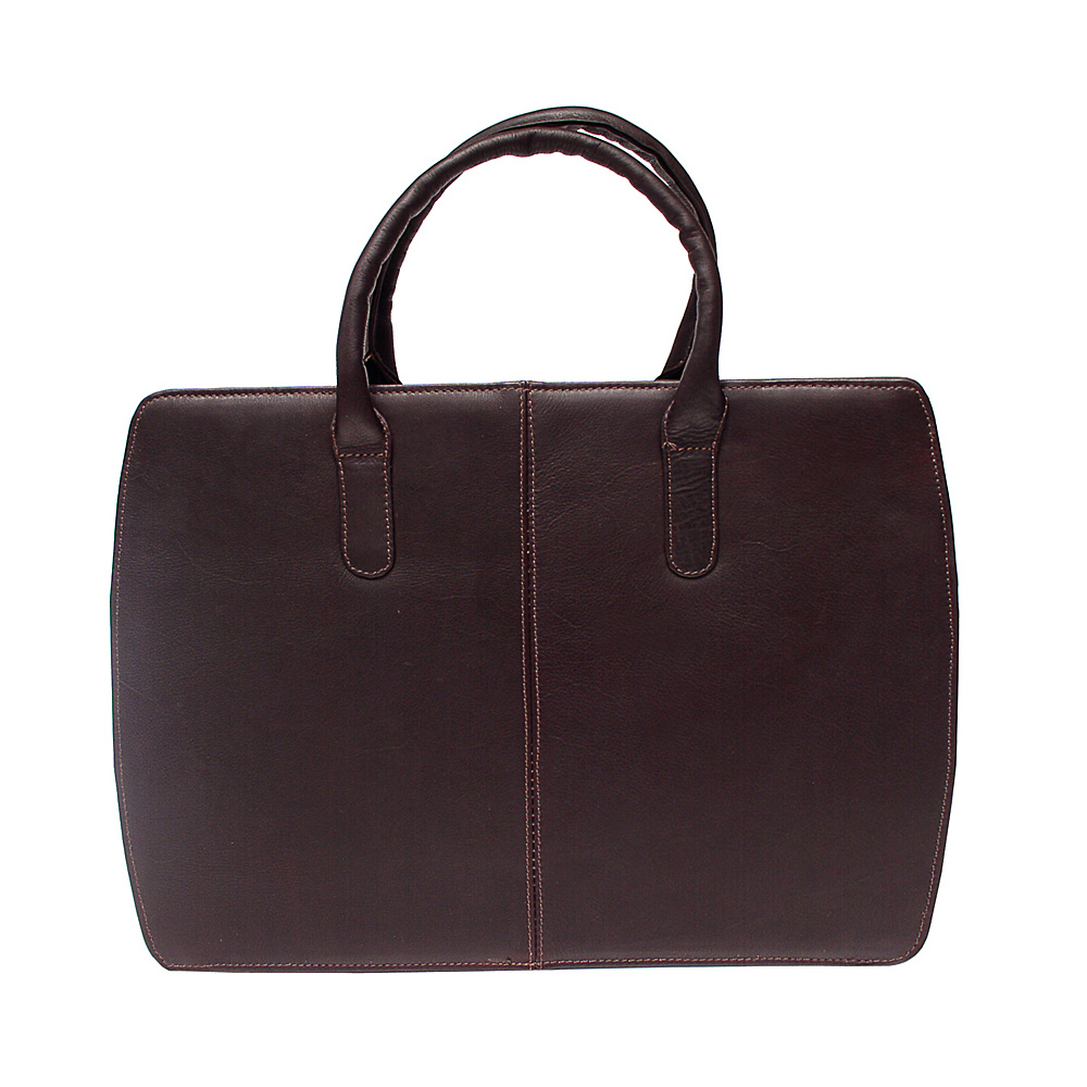 Piel Womens Portfolio - Chocolate - Work Bags & Briefcases, Non-Wheeled Business Cases