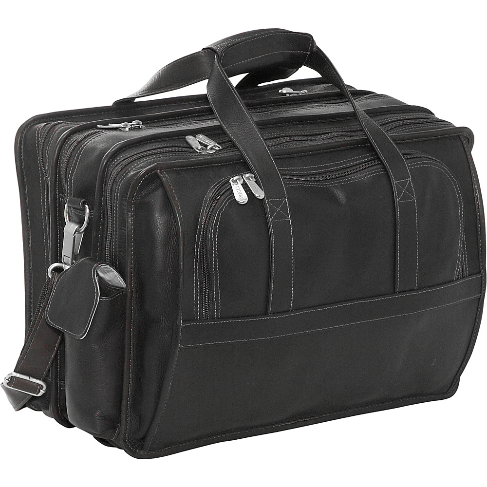 Piel Half-Moon Computer Portfolio - Black - Work Bags & Briefcases, Non-Wheeled Business Cases