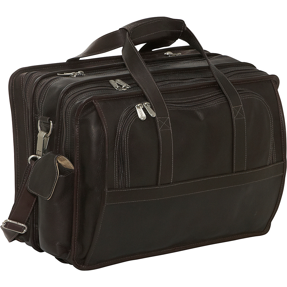 Piel Half-Moon Computer Portfolio - Chocolate - Work Bags & Briefcases, Non-Wheeled Business Cases