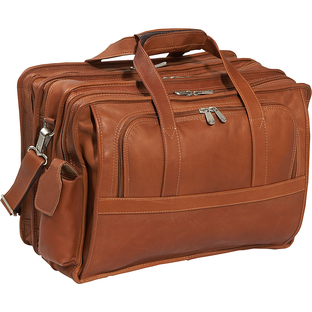 Piel Half-Moon Computer Portfolio - Saddle - Work Bags & Briefcases, Non-Wheeled Business Cases