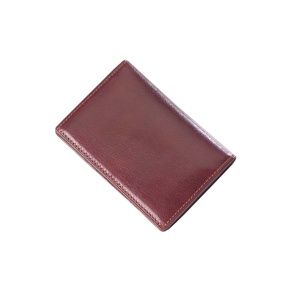 Clava Glazed Leather Flap Over Card Holder - Glazed - Work Bags & Briefcases, Business Accessories