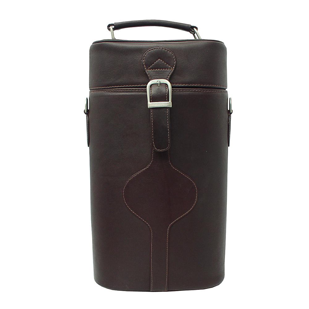 Piel Double Deluxe Wine Carrier - Chocolate - Outdoor, Outdoor Accessories