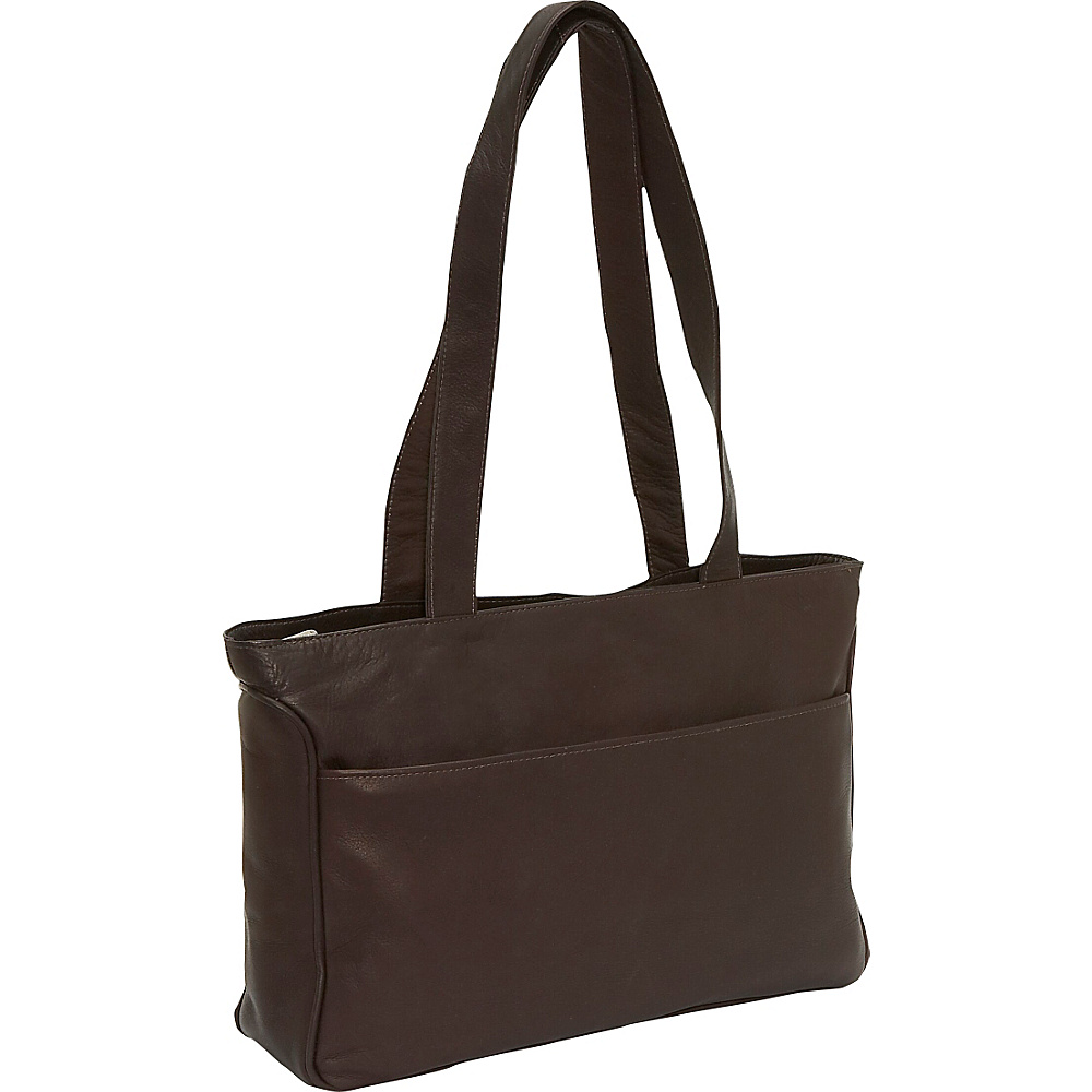 Piel Slim Tote - Chocolate - Work Bags & Briefcases, Women's Business Bags
