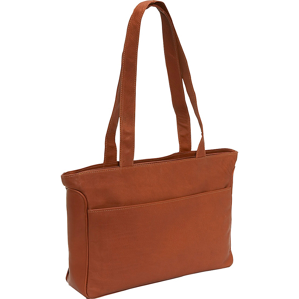 Piel Slim Tote - Saddle - Work Bags & Briefcases, Women's Business Bags