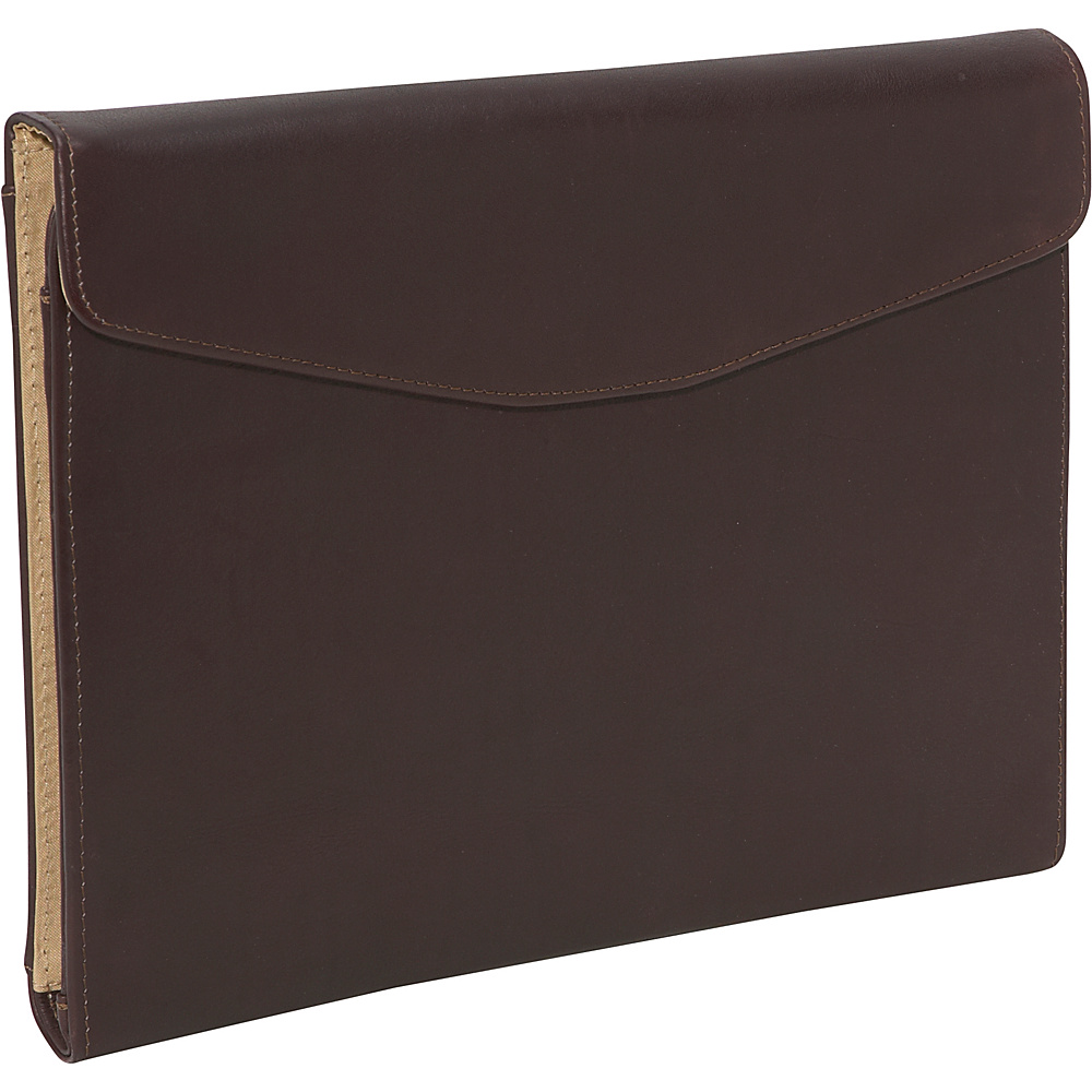 Piel Envelope Padfolio - Chocolate - Work Bags & Briefcases, Business Accessories