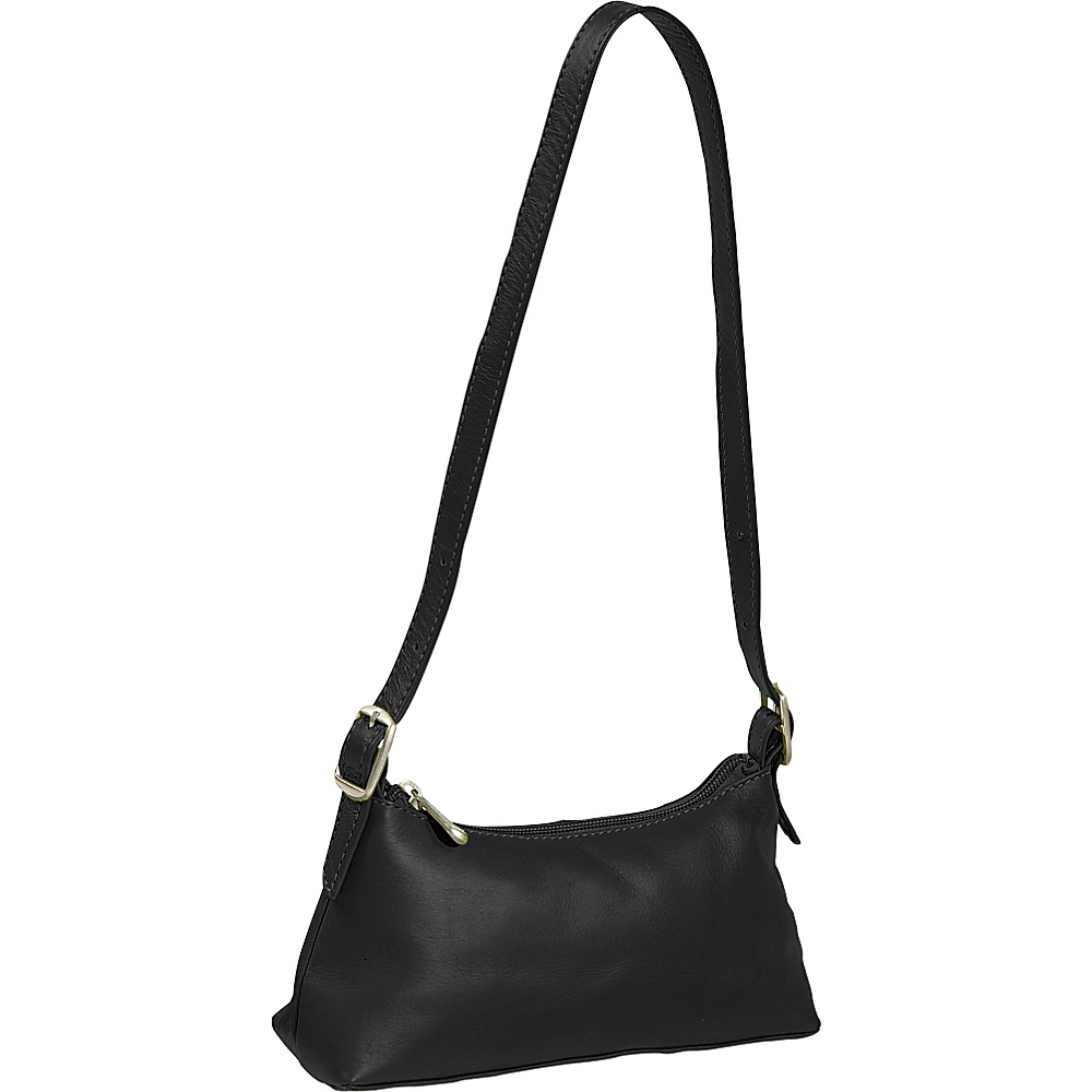 Piel Small Shoulder Mini - Black - Handbags, Leather Handbags
