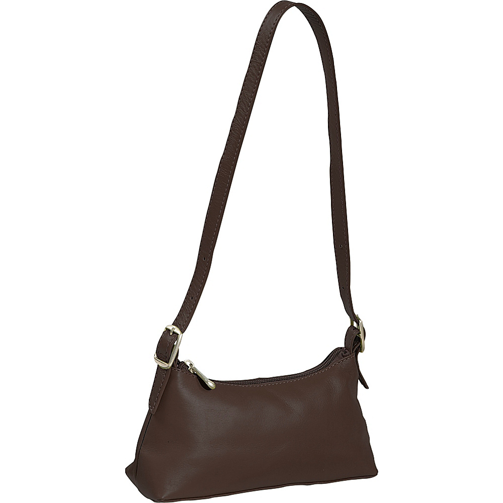Piel Small Shoulder Mini - Chocolate - Handbags, Leather Handbags