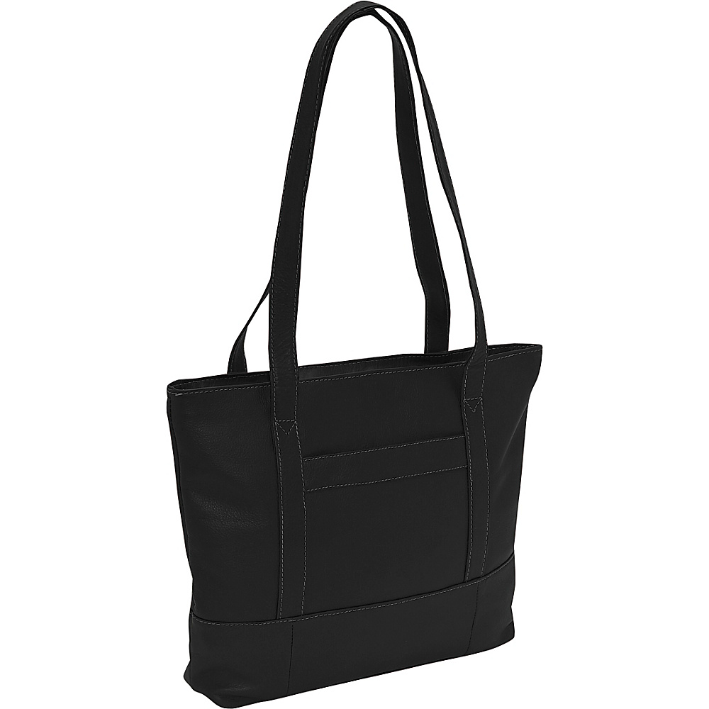 Piel Top-Zip Business Tote - Black - Work Bags & Briefcases, Women's Business Bags