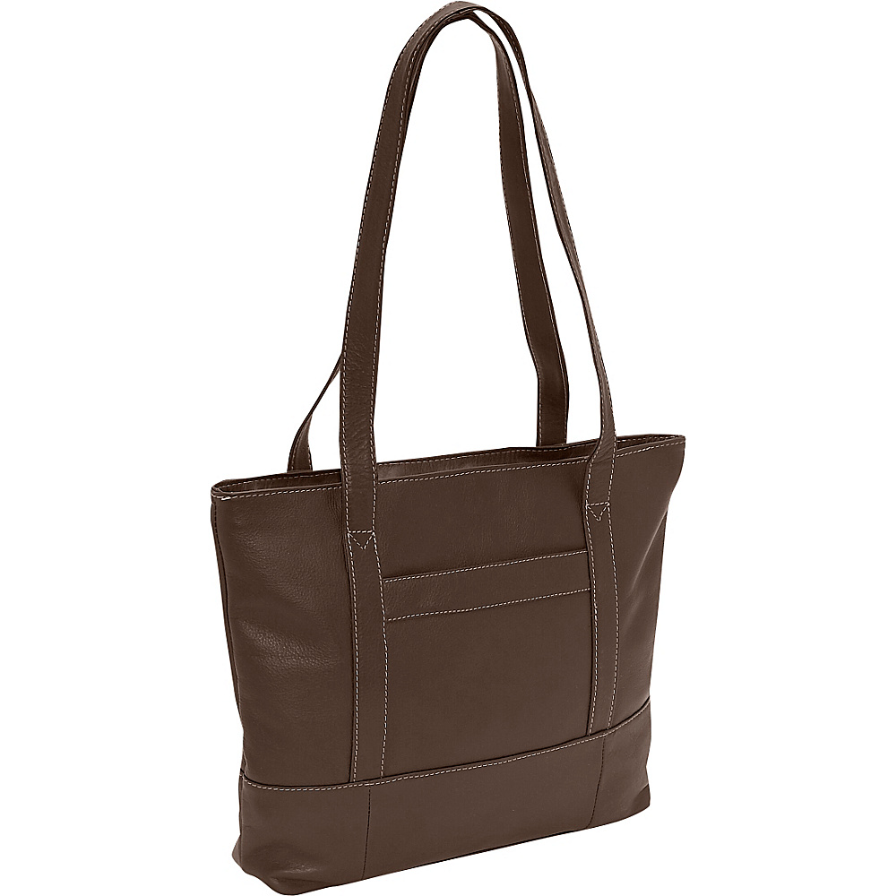 Piel Top-Zip Business Tote - Chocolate - Work Bags & Briefcases, Women's Business Bags