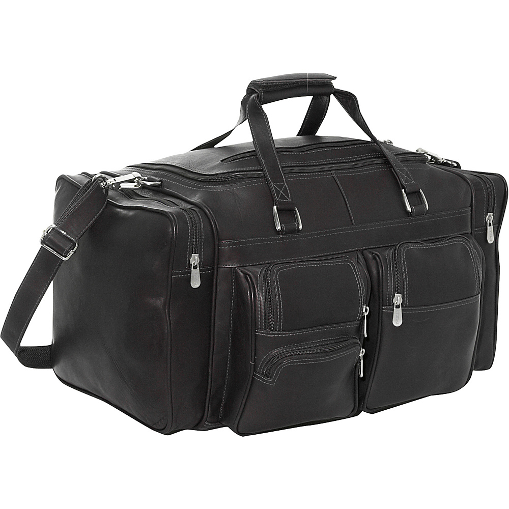 Piel 20 Duffel Bag with Pockets - Black - Duffels, Travel Duffels