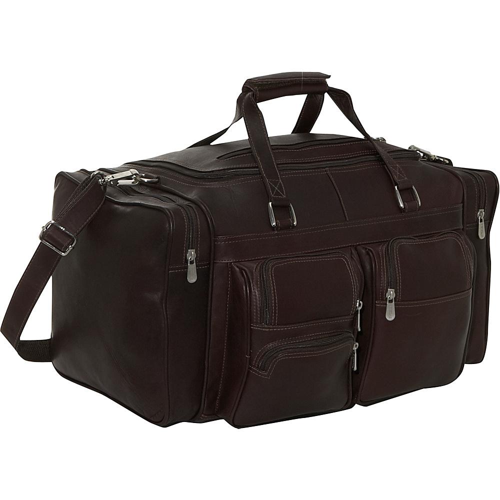Piel 20 Duffel Bag with Pockets - Chocolate - Duffels, Travel Duffels