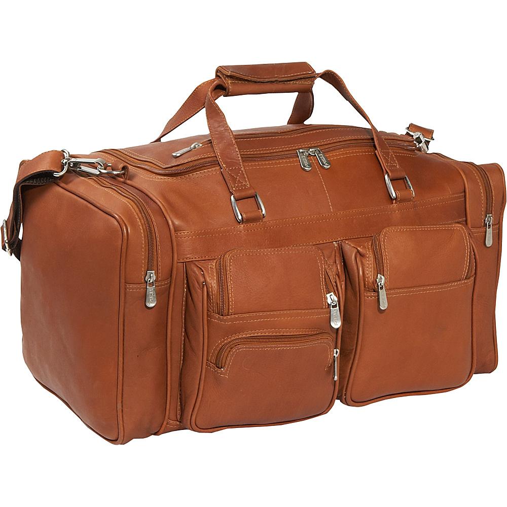 Piel 20 Duffel Bag with Pockets - Saddle - Duffels, Travel Duffels