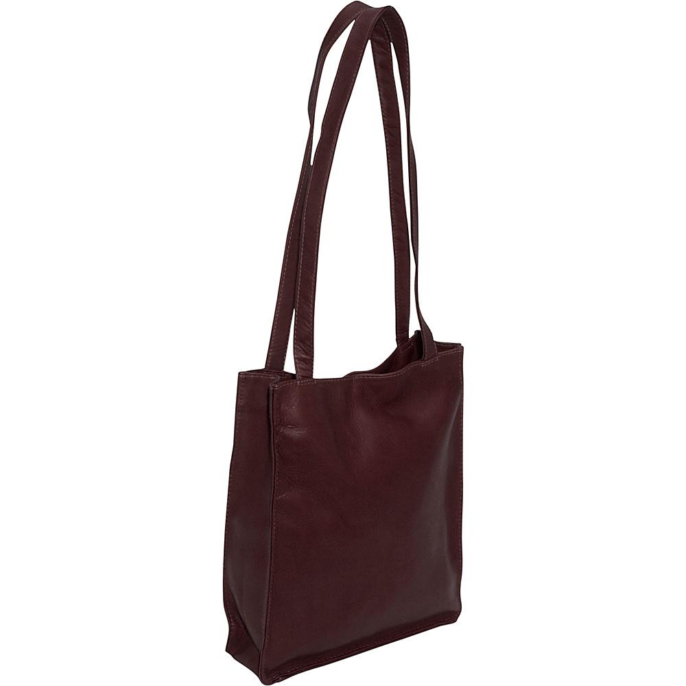 Piel Open Tote - Chocolate - Handbags, Leather Handbags