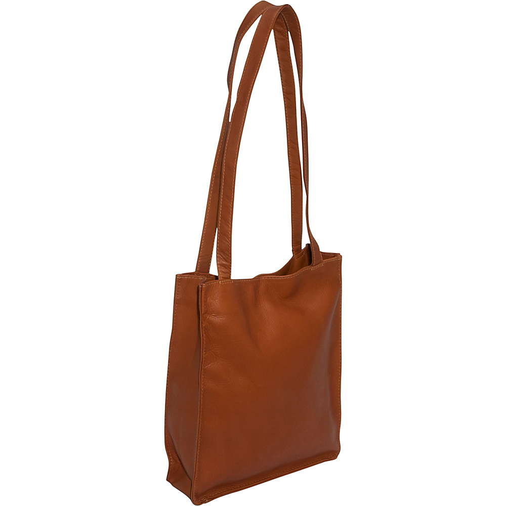 Piel Open Tote - Saddle - Handbags, Leather Handbags