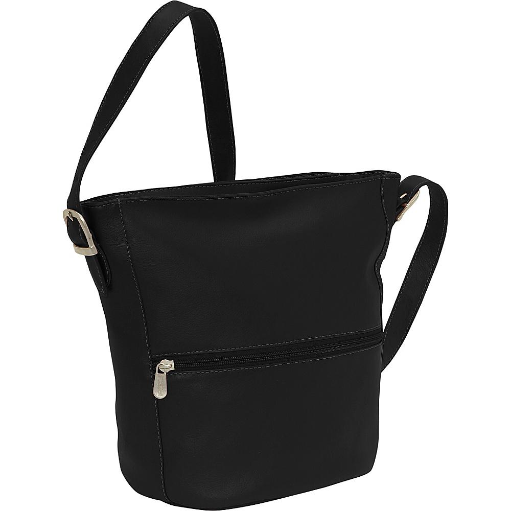 Piel Bucket Bag - Black - Handbags, Leather Handbags