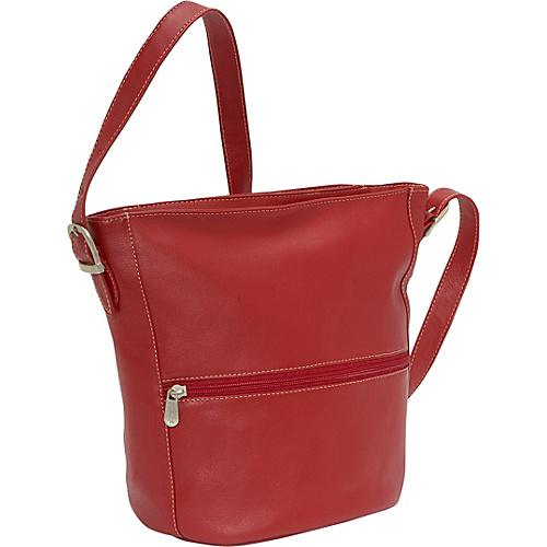 Piel Bucket Bag - Red