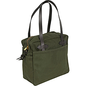 Large Tote Bag with zipper Otter Green