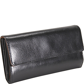 Ladies 3 Part Clutch  Black/Tan