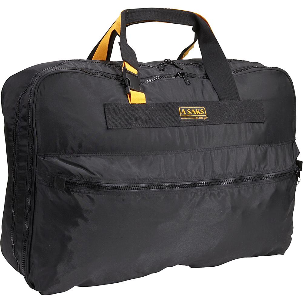 A. Saks EXPANDABLE 26 Expandable Suitcase - Black - Duffels, Travel Duffels