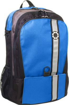 DadGear Backpack Retro Stripe Diaper Bag - Slate Blue