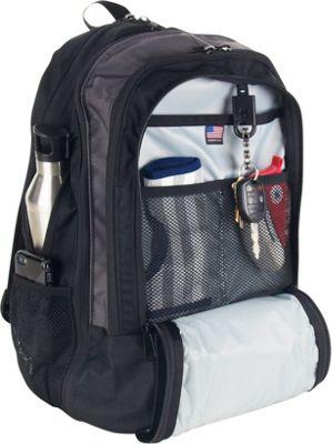 DadGear Backpack Retro Stripe Diaper Bag - Black