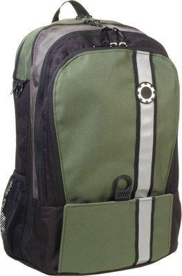 DadGear Backpack Retro Stripe Diaper Bag - Olive Green