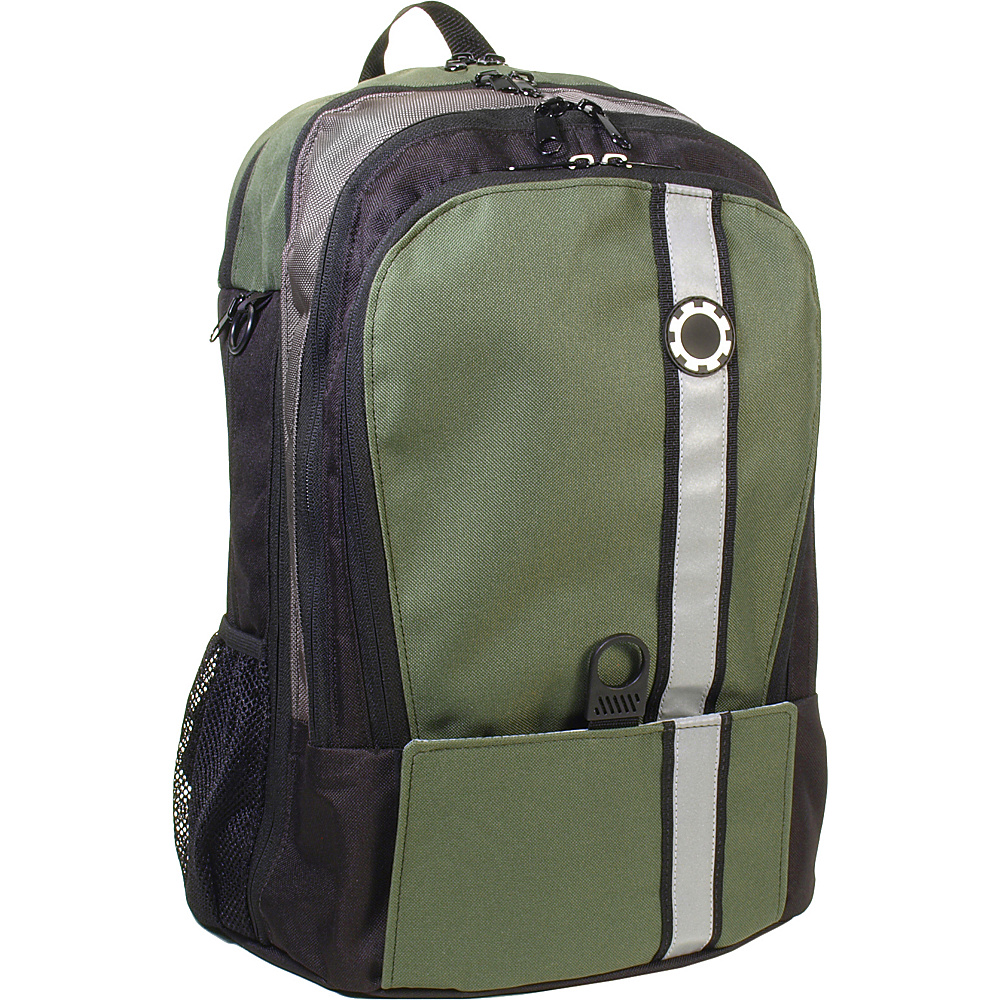 DadGear Backpack Retro Stripe Diaper Bag - Olive Green - Backpacks, Everyday Backpacks